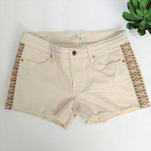 LUCKY BRAND Jean Shorts Southwestern Cream 2 26